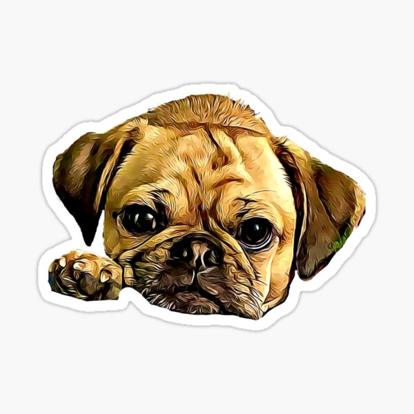Adorable Puggle Puppy Sticker