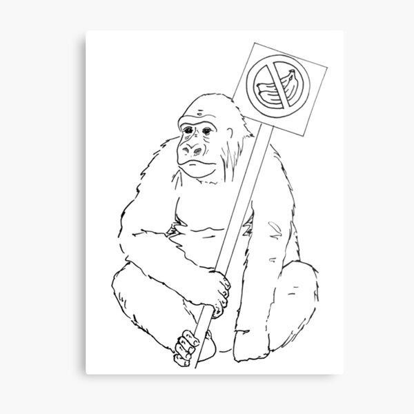 Grodd Hates Bananas. Metal Print