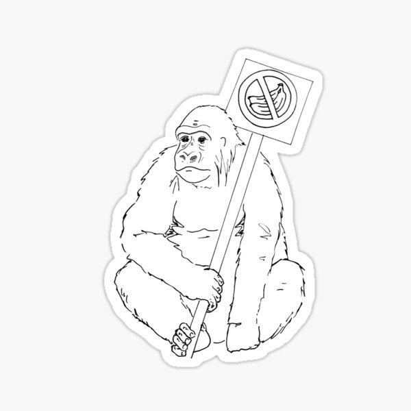 Grodd Hates Bananas. Sticker