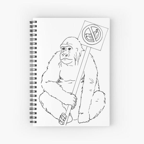 Grodd Hates Bananas. Spiral Notebook