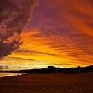 Sky Ablaze - Merewether Beach by Daniel Mitchell
