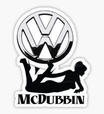 McDubbin - for all you VW Lovers  Sticker