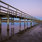 Evening Boardwalk - Urunga, NSW by Daniel Mitchell
