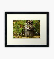 Tumbling water Framed Print