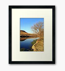 Wilgeriver, Gauteng, South Africa during winter. Framed Print