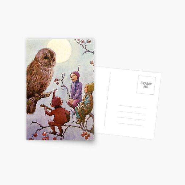 """""""Eine Carol für Brown Owl"""" von Margaret Tarrant Postkarte"""