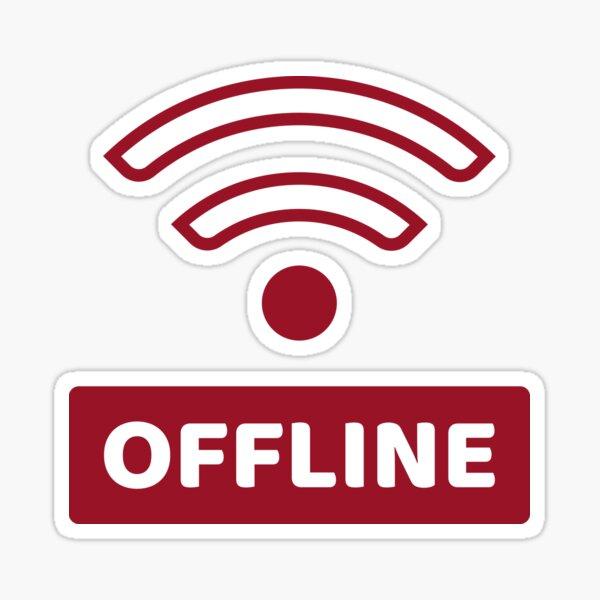 Offline - No Wifi Sticker