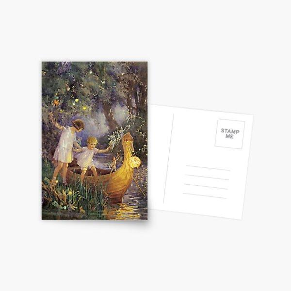 """""""Das Boot zum Märchenland"""" von Margaret Tarrant Postkarte"""