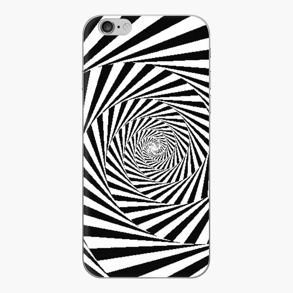 Optical Illusion Beige Swirl,  mwo,x1000,iphone_6_skin-pad,1000x1000,f8f8f8