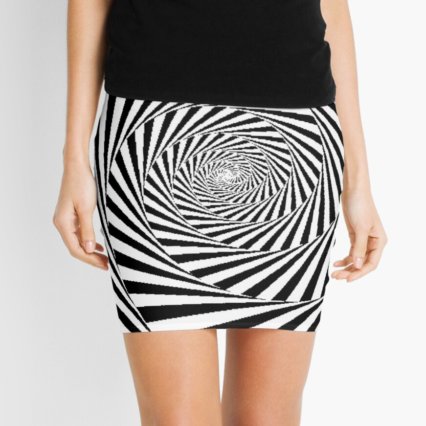 Optical Illusion Beige Swirl,  pencil_skirt,x1000,front-c,378,0,871,871-bg,f8f8f8