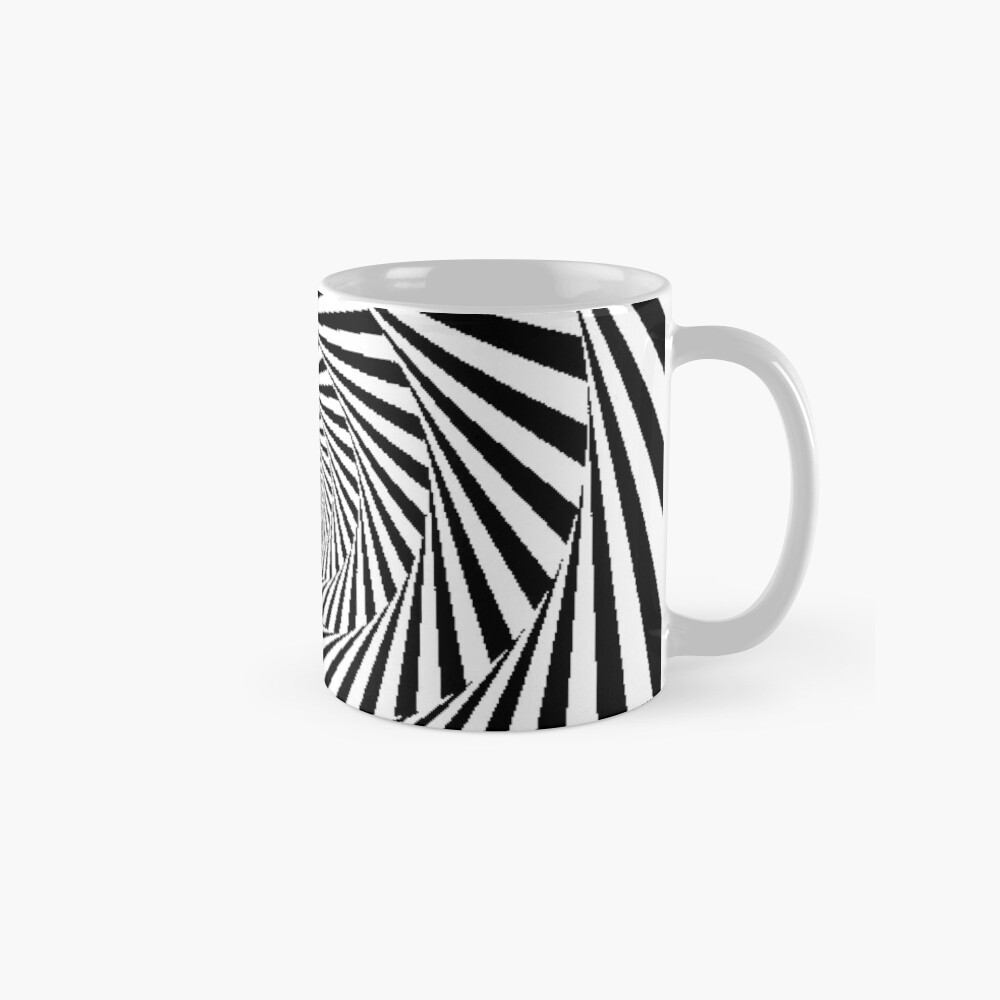 Optical Illusion Beige Swirl,  mug,standard,x1000,right-pad,1000x1000,f8f8f8