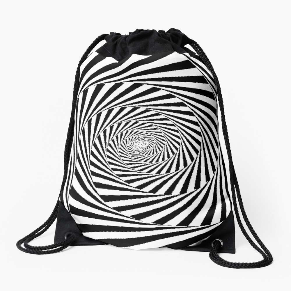 Optical Illusion Beige Swirl,  drawstring_bag,x1000-pad,1000x1000,f8f8f8