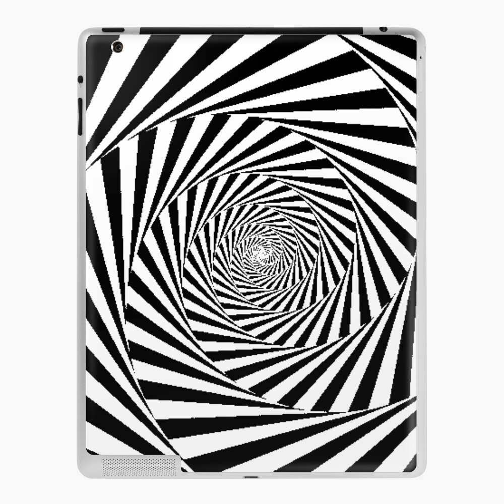 Optical Illusion Beige Swirl,  mwo,x1000,ipad_2_skin-pad,1000x1000,f8f8f8