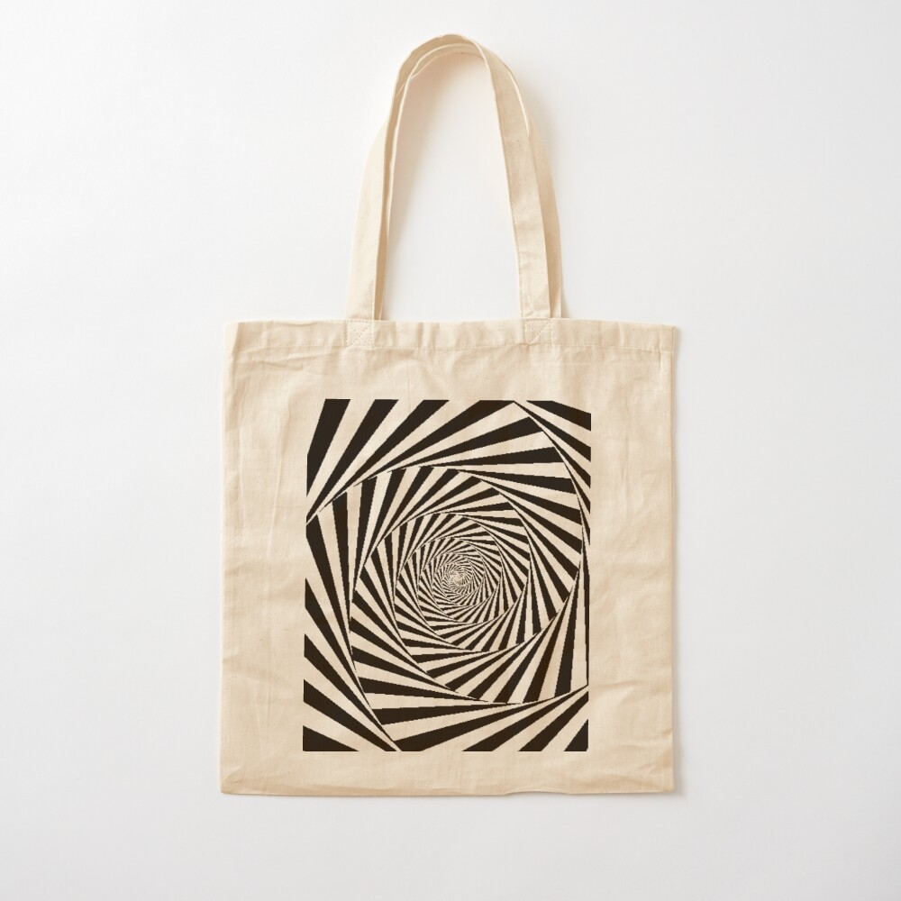 Optical Illusion Beige Swirl,  ssrco,tote,cotton,canvas_creme,flatlay,square,1000x1000-bg,f8f8f8