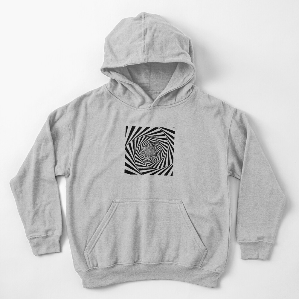 Optical Illusion Beige Swirl,  ssrco,kids_hoodie,youth,heather_grey,flatlay_front,square,1000x1000-bg,f8f8f8