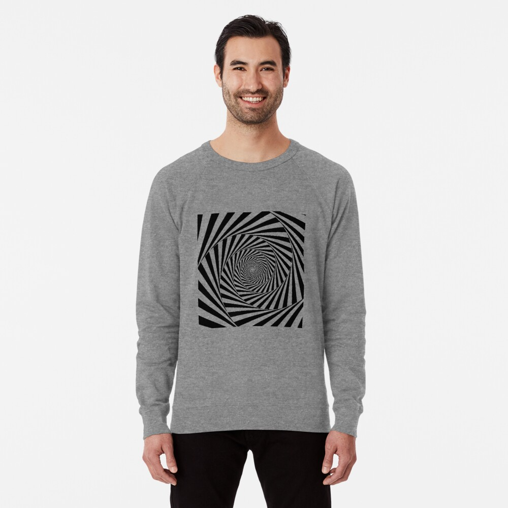 Optical Illusion Beige Swirl,  ssrco,lightweight_sweatshirt,mens,heather_grey_lightweight_raglan_sweatshirt,front,square_three_quarter,x1000-bg,f8f8f8
