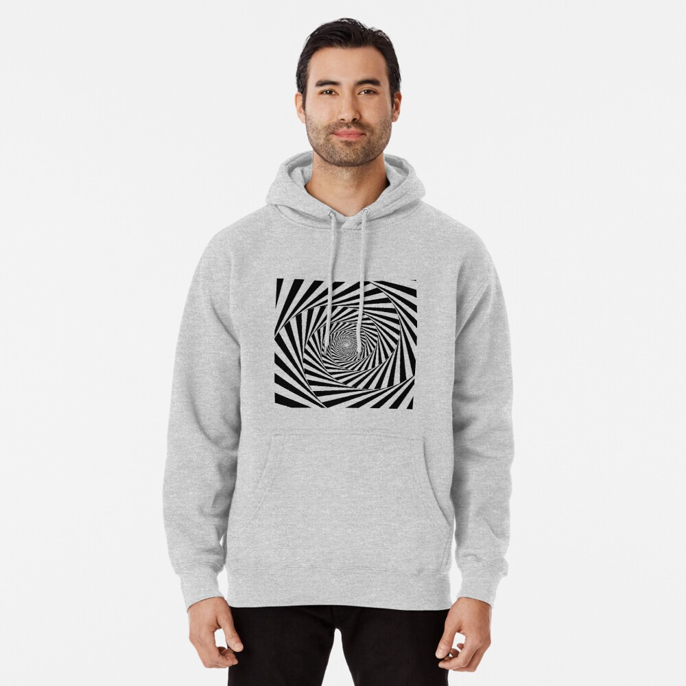 Optical Illusion Beige Swirl,  ssrco,mhoodie,mens,heather_grey,front,square_three_quarter,x1000-bg,f8f8f8
