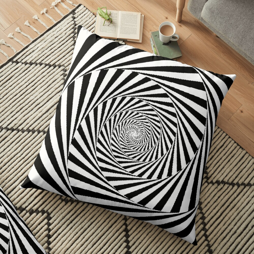 Optical Illusion Beige Swirl,  throwpillow,36x36,1000x-bg,f8f8f8-c,0,200,1000,1000