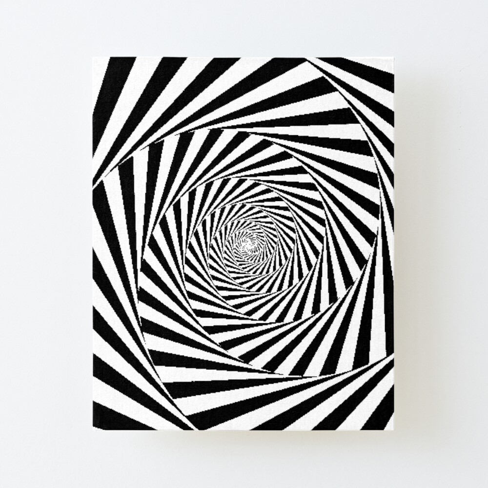 Optical Illusion Beige Swirl,  ur,mounted_print_canvas_portrait_small_front,square,1000x1000
