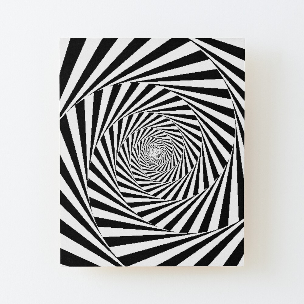 Optical Illusion Beige Swirl,  ur,mounted_print_wood_portrait_small_front,square,1000x1000