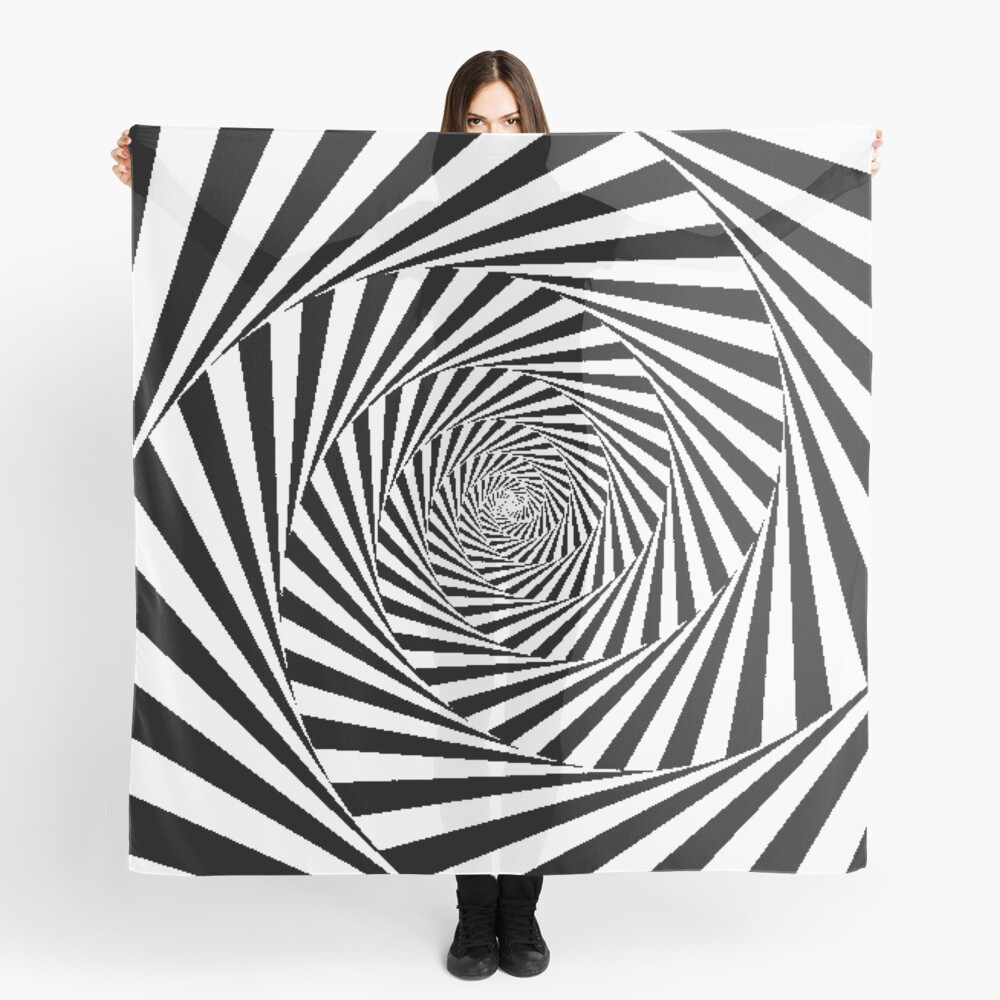 Optical Illusion Beige Swirl,  scarf,x1050-pad,1000x1000,f8f8f8