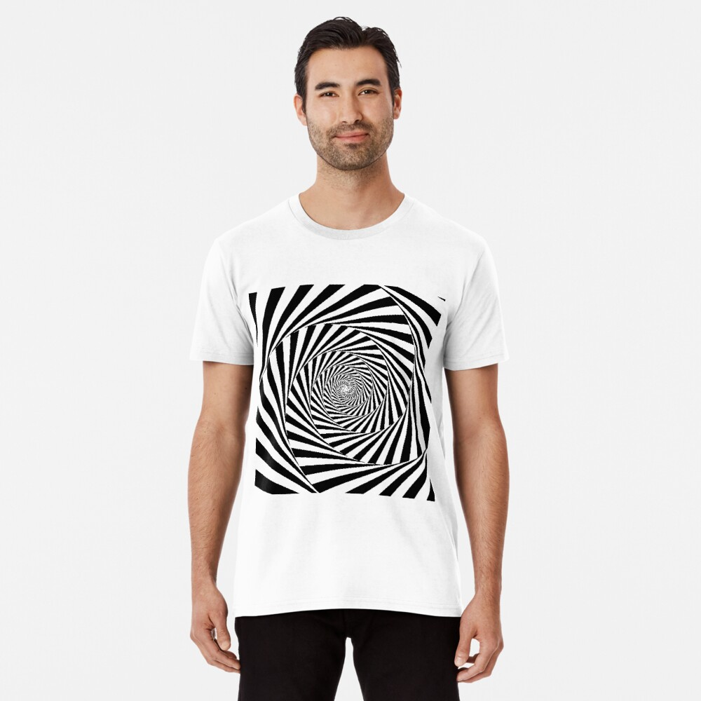 Optical Illusion Beige Swirl,  ssrco,mens_premium_t_shirt,mens,fafafa:ca443f4786,front,square_three_quarter,x1000-bg,f8f8f8