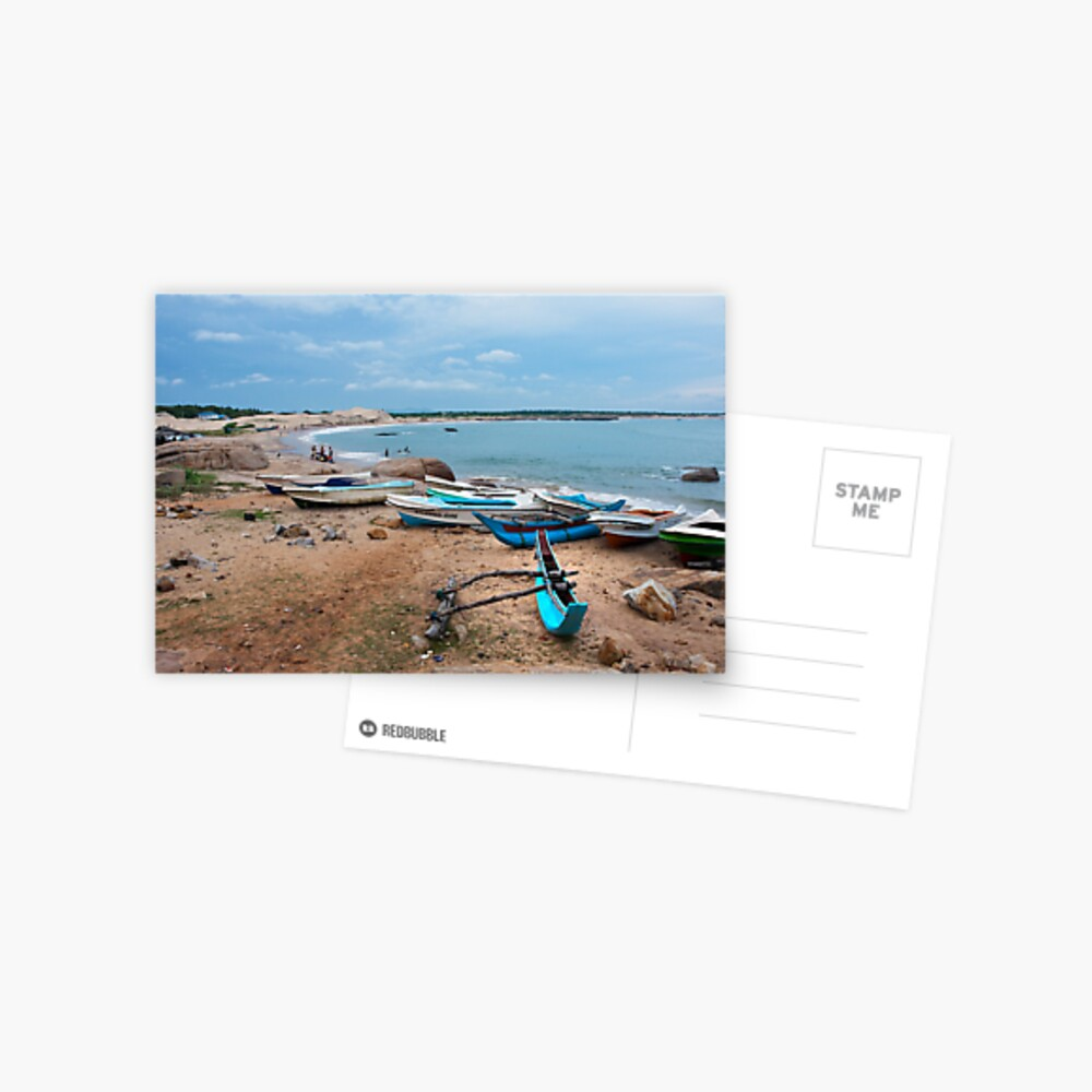 Fishing Boats - Sri Lanka Postcard