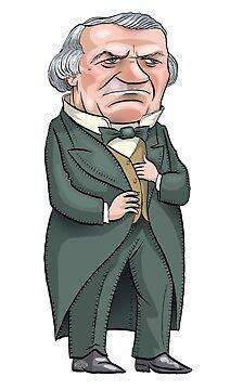 President Andrew Johnson by MacKaycartoons