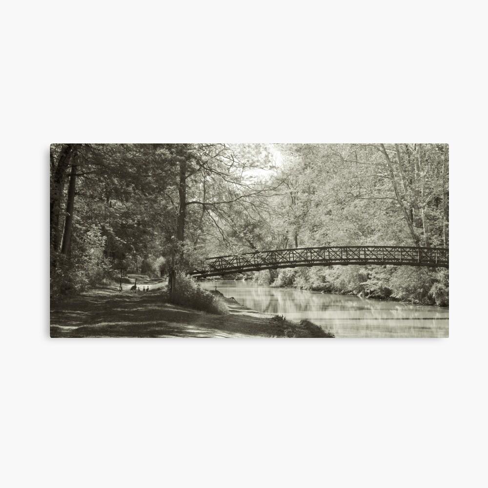 Along the Tow Path Trail Canvas Print