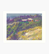 Neighbors (pastel) Art Print