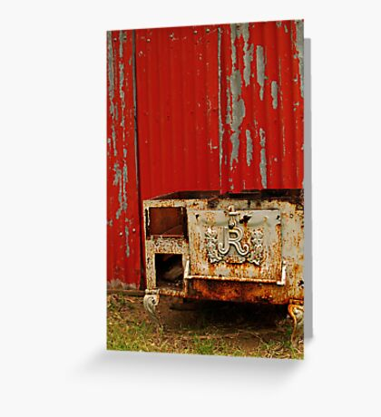 R is for Red & Rusty Greeting Card