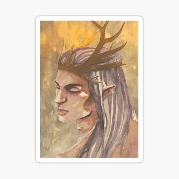 King of the Alders   Elk King Sticker