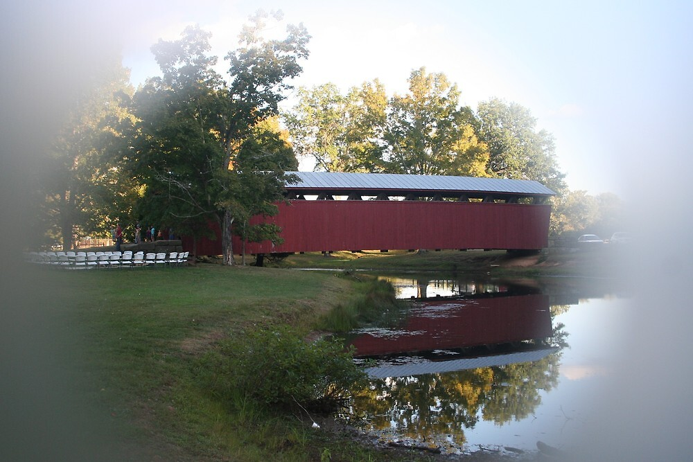 Staats Mill Covered Bridge in Ripley WV by fotoflossy