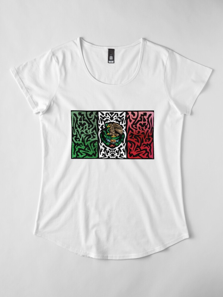 Alternate view of Crazy Flag # 31 Premium Scoop T-Shirt