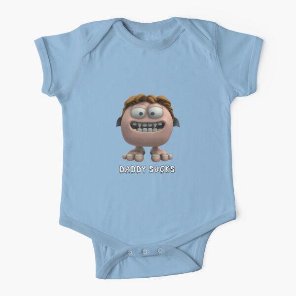 Daddy Sucks Short Sleeve Baby One-Piece