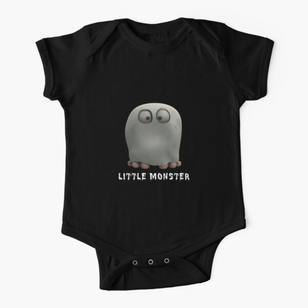 Litytle Monster - Ghost Short Sleeve Baby One-Piece