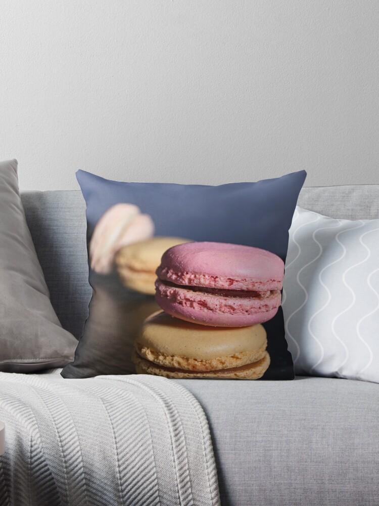 Macaron Throw Pillow By Photo Thin Redbubble