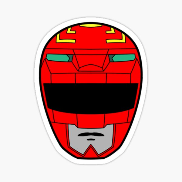 Power Rangers Galaxy Red verloren Sticker