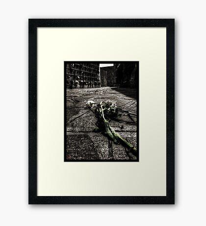 Dying Among The Dead Framed Print