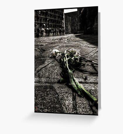 Dying Among The Dead Greeting Card