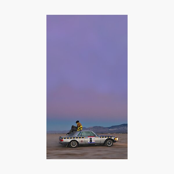 Asap rocky testing car Photographic Print