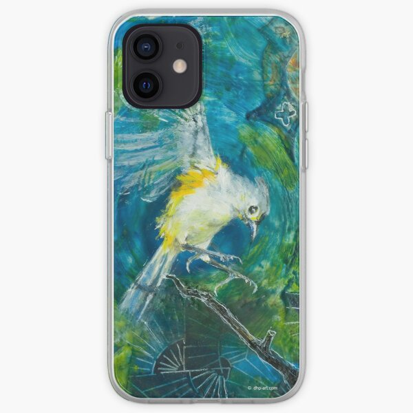 Bird #11 (tufted titmouse), © Deborah Howard-Page, ALl Rights Reserved. www.dhp-art.com iPhone Soft Case