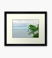 VIEW FROM CRISTO REI - The land's reward to the people of faith   Framed Print