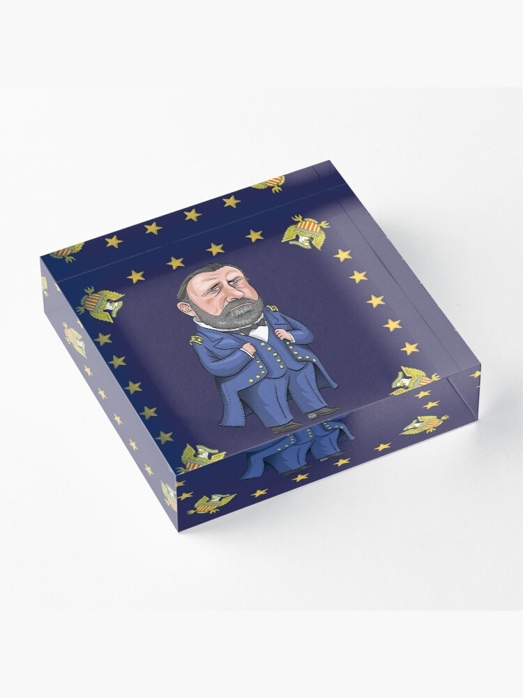 Alternate view of President Ulysses S. Grant Acrylic Block