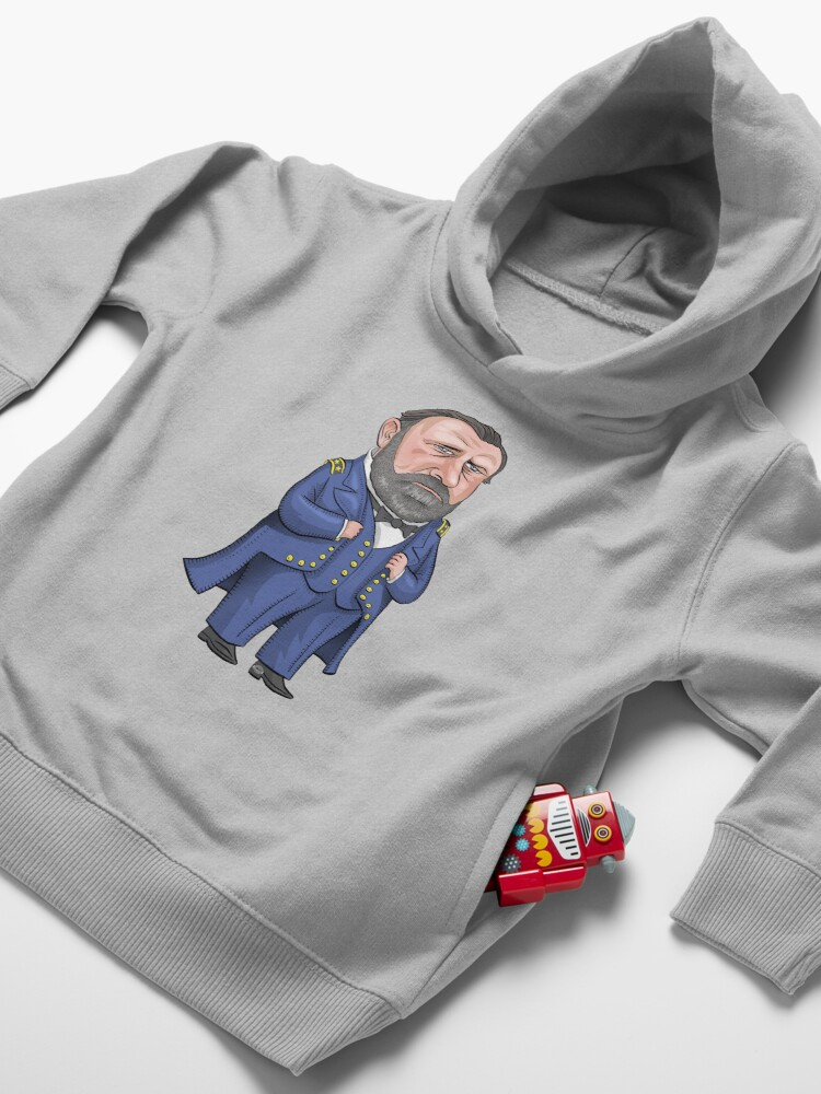 Alternate view of President Ulysses S. Grant Toddler Pullover Hoodie