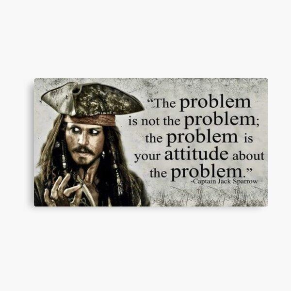 Captain Jack Sparrow Quote Canvas Print
