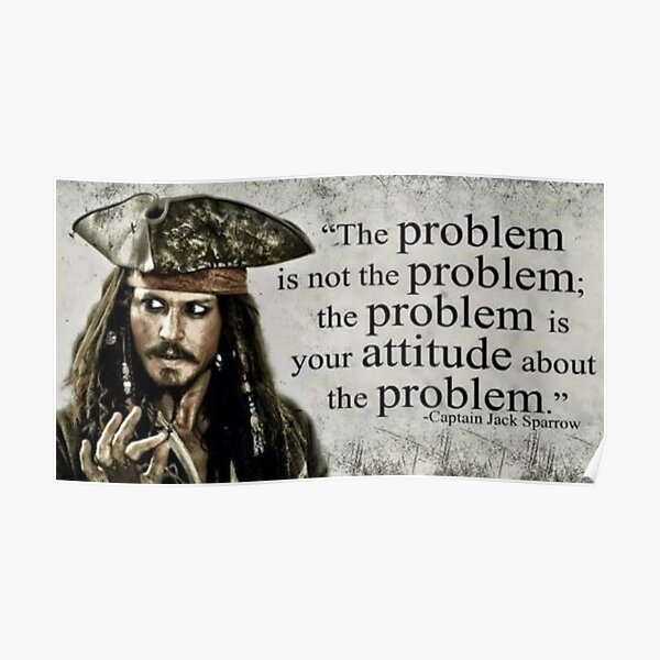 Citation du capitaine Jack Sparrow Poster