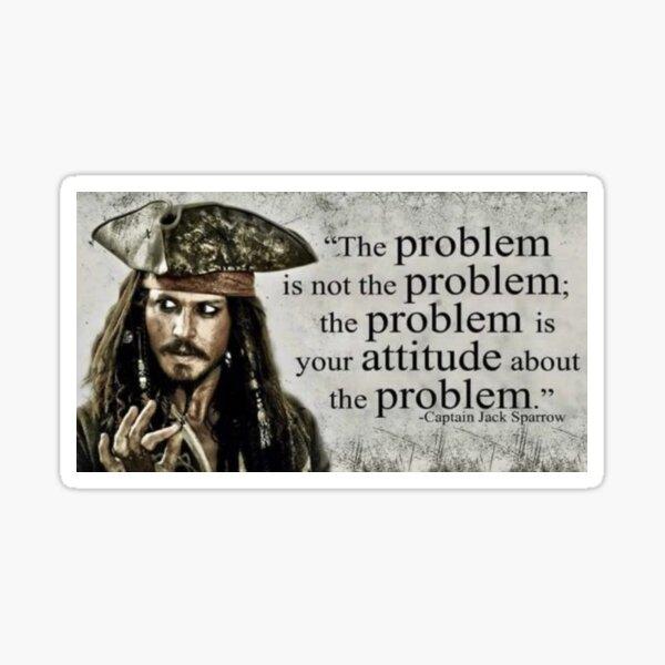 Kapitän Jack Sparrow Quote Sticker