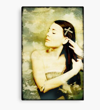 Girl With Ribbon Canvas Print