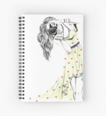 Photographer Girl Spiral Notebook